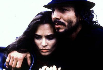 Talisa Soto as Sugar and Benjamin Bratt as Puerto Rican poet-playwright-actor Miguel Pi?ero in Miramax's Pinero
