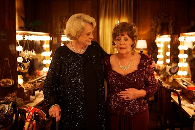 "This film image released by The Weinstein Company shows Maggie Smith, left, and Pauline Collins in a scene from ""Quartet."" (AP Photo/The Weinstein Company)"