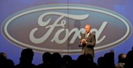 Ford India President and managing director Michael Bonham speaks during a preview of the new Ford EcoSport car in New Delhi in January 2012. Ford's India unit said on Monday it was recalling at least 111,000 vehicles to check for potentially faulty parts that could cause breakdowns or fires