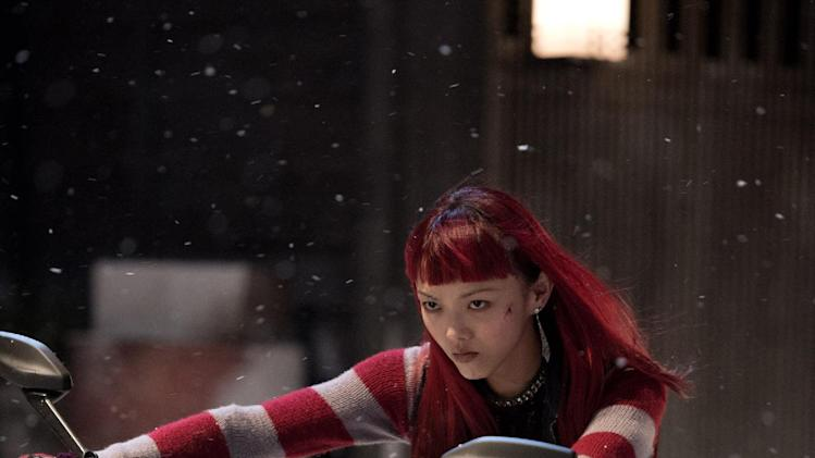 "This publicity image released by 20th Century Fox shows Rila Fukushima in a scene from ""The Wolverine."" (AP Photo/20th Century Fox, Ben Rothstein)"