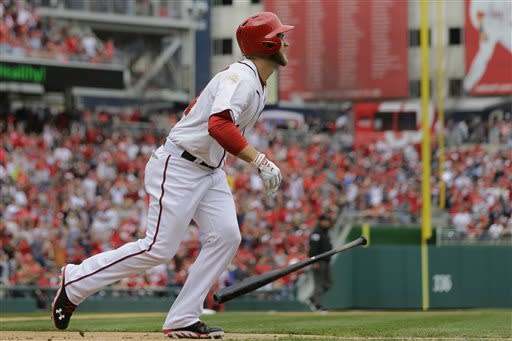 Harper, Strasburg lead Nationals over Marlins 2-0