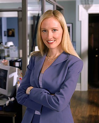 "Janel Moloney as assistant Donna Moss on NBC's ""The West Wing"" West Wing"