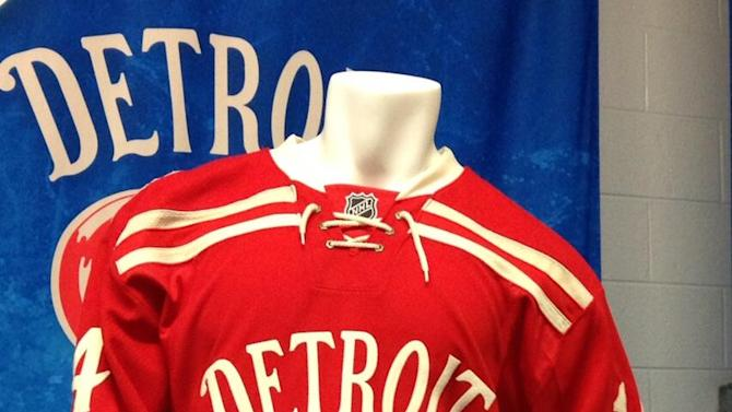 Detroit Red Wings 2014 Winter Classic Jersey (Photo by Nick Cotsonika @cotsonika)