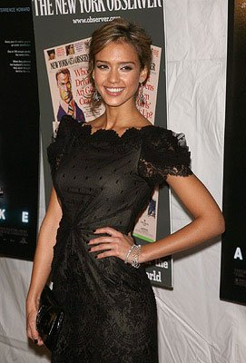 Jessica Alba at the New York City premiere of Weinstein Company's Awake