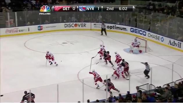 Dan Girardi crushes Drew Miller with big hit