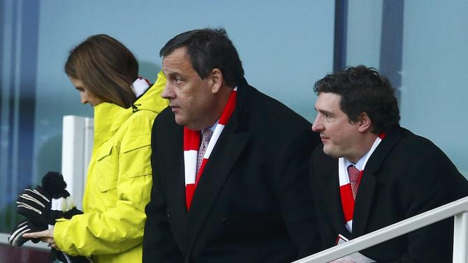 Governor of New Jersey Chris Christie attends Arsenal's English Premier League soccer match against Aston Villa in London