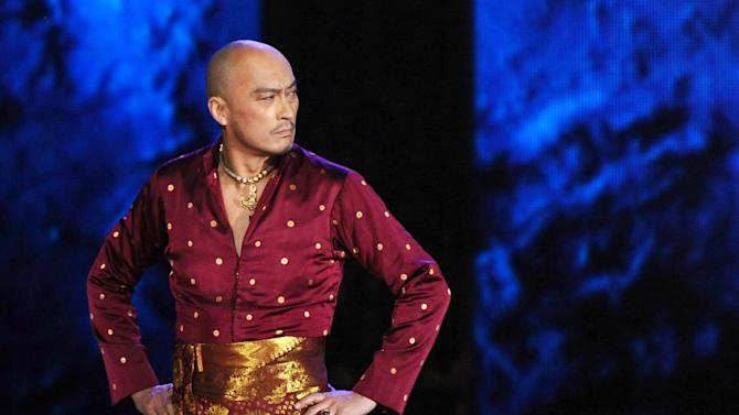 "FILE - In this June 7, 2015 file photo, Ken Watanabe performs a number from ""The King and I"" at the 69th annual Tony Awards in New York. A publicist for Watanabe says the Tony Award- and Oscar-nominated actor has been forced to delay his return to Broadway's ""The King and I"" while he battles stomach cancer. The actor has undergone endoscopic surgery and is recuperating at a hospital in Japan. (Photo by Charles Sykes/Invision/AP, File)"