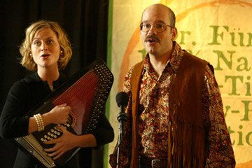 Amy Poehler and David Cross