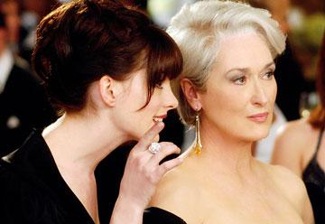 Anne Hathaway and Meryl Streep in 20th Century Fox's The Devil Wears Prada