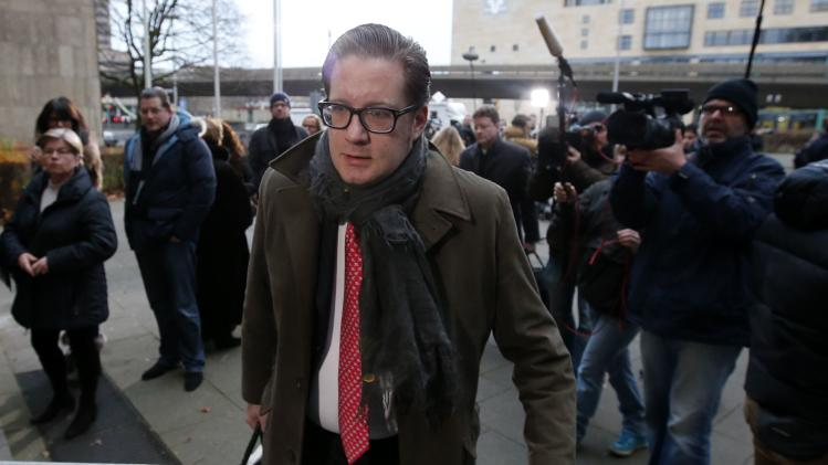 Groenewold, co-defendant of former German president Wulff, arrives for the trial at the regional court in Hanover