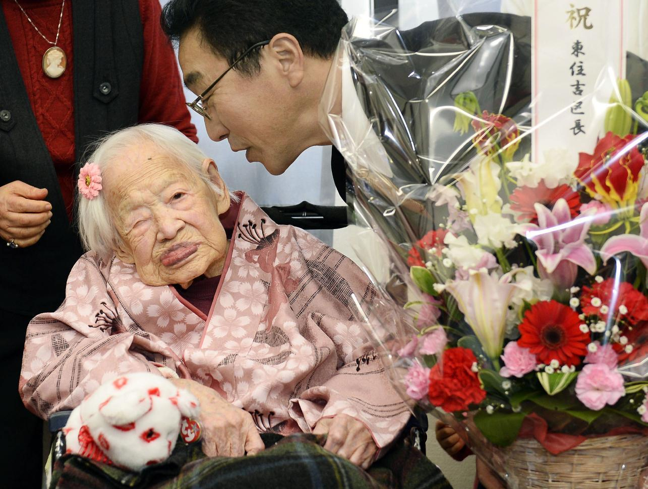 World's oldest person wonders about secret to longevity too