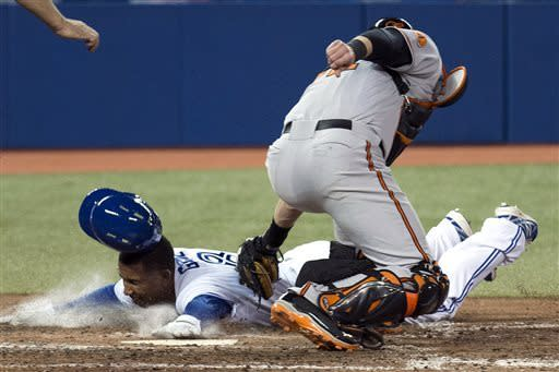Encarnacion hits slam, Blue Jays beat Orioles 12-6