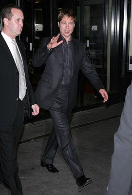 Brad Pitt at the New York City premiere of Warner Bros. Pictures' Michael Clayton