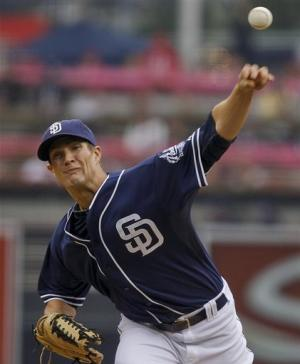 Luebke, Padres beat Halladay, Phillies 5-1