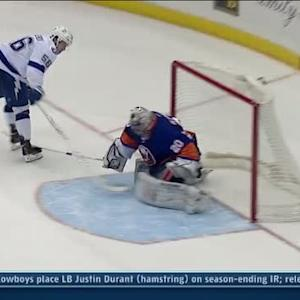 Kucherov scores with one hand in the shootout