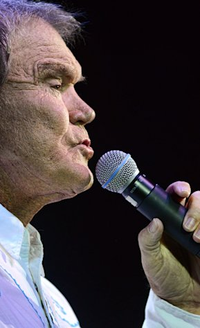 Glen Campbell performs at the IP Casino in Biloxi, Ms. on Friday, July 15, 2011. (AP Photo/William Colgin)