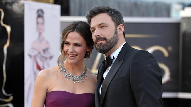 Actors Jennifer Garner, left, and Ben Affleck arrive at the Oscars at the Dolby Theatre on Sunday Feb. 24, 2013, in Los Angeles. (Photo by John Shearer/Invision/AP)