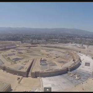 Raw Video: Apple Headquarters Construction Video Captured By Drone