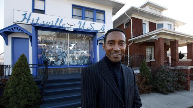 """Charles Randolph Wright, director of """"Motown: The Musical"""" poses for a photo outside the Motown Museum in Detroit, Tuesday, Nov. 27, 2012.  """"Motown: The Musical"""" begins its run of preview performances March 11 ahead of the official opening on April 14 at New York's Lunt-Fontanne Theatre. (AP Photo/Paul Sancya)"""