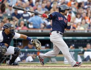 Victorino drives in 5, Red Sox beat Tigers 10-6