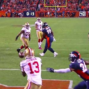 San Francisco 49ers wide receiver S. Johnson 4-yard TD reception
