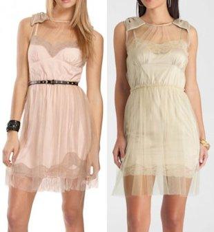 Left: Rodarte for Target dress. Right: a very similar design by Guess by Marciano.