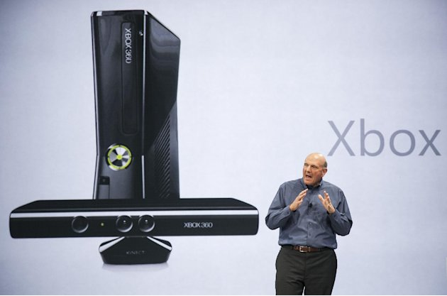 FILE - In this June 18, 2012 photo, Microsoft CEO Steve Ballmer comments on Microsoft Xbox before unveiling its new Surface, a tablet computer to compete with Apple's iPad at Hollywood's Milk Studios