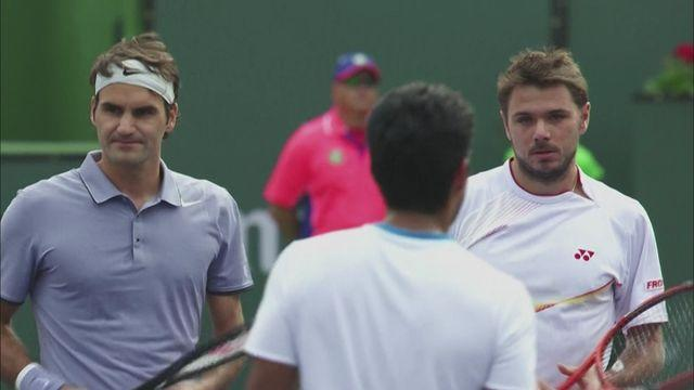 Federer and Wawrinka in winning doubles return