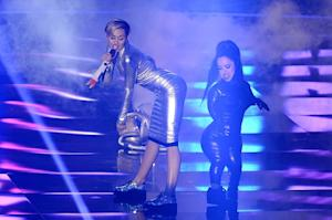 Miley Cyrus Smokes a Joint After Tamer Twerking at MTV Europe Music Awards