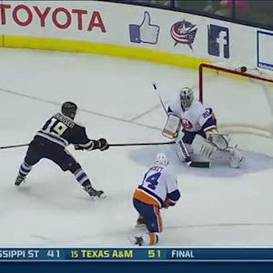 Ryan Johansen finishes on the breakaway