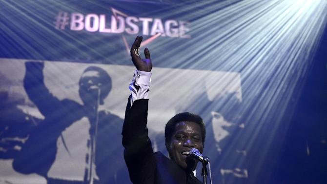 """IMAGE DISTRIBUTED FOR DORITOS - To help launch the Doritos """"For the Bold"""" campaign, Ty Taylor of Los Angeles-based musical group Vintage Trouble performs on the Doritos #BoldStage at the South by Southwest Music Festival on Friday, March 15, 2013, in Austin, Texas. (Photo by Darren Abate/Invision for Doritos/AP Images)"""