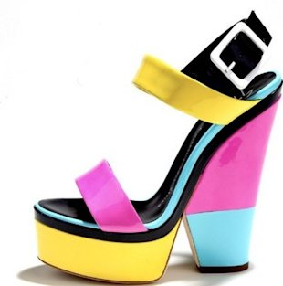 colorblock heel