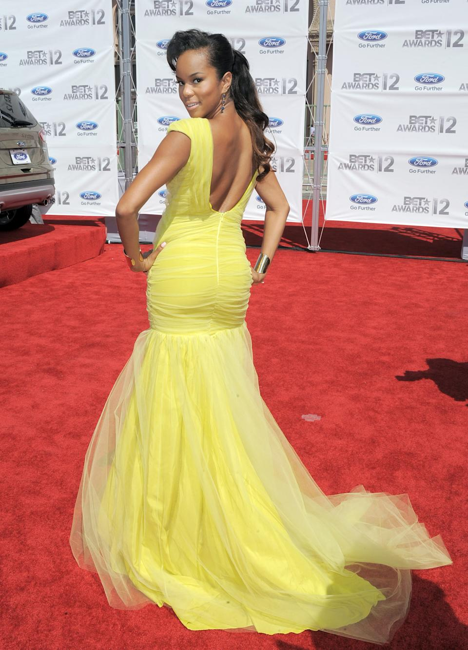 LeToya Luckett arrives at the BET Awards on Sunday, July 1, 2012, in Los Angeles. (Photo by Jordan Strauss/Invision/AP)