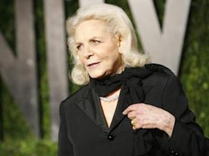 Lauren Bacall arrives at the 2010 Vanity Fair Oscar party in West Hollywood