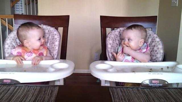 Twin Babies Rock Out to Dad's Guitar
