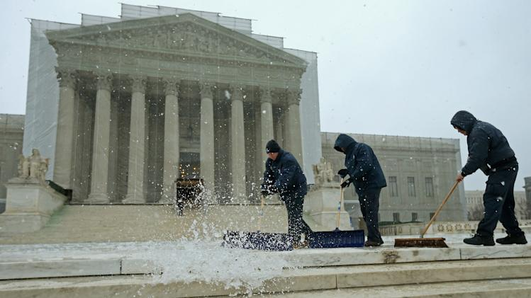 Late Winter Snowstorm Hits Washington DC