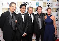 "(From L) Tom Rothman, Suraj Sharma, Ang Lee, Yann Martel, and Elizabeth Gabler attend the 50th annual New York Film Festival Opening Night Gala premiere of ""Life Of Pi"" at Alice Tully Hall, Lincoln Center, on September 28, in New York City"