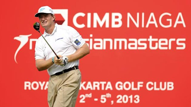 Ernie Els of South Africa playing at the Indonesian Masters (AFP)