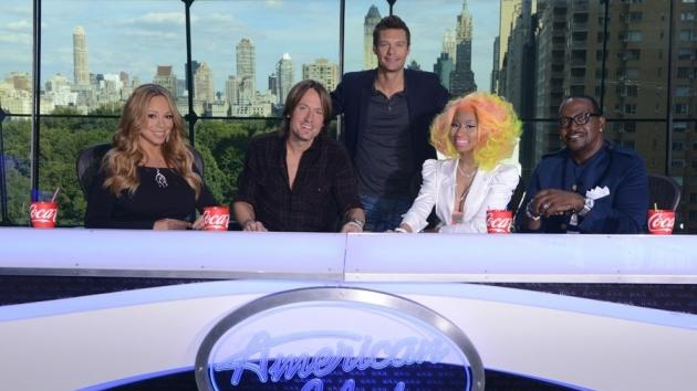 Mariah Carey, Keith Urban, Ryan Seacrest, Nicki Minaj and Randy Jackson on 'American Idol' -- FOX