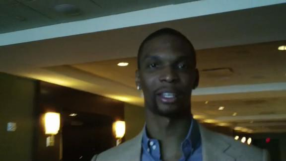 Bosh Arrives in Houston