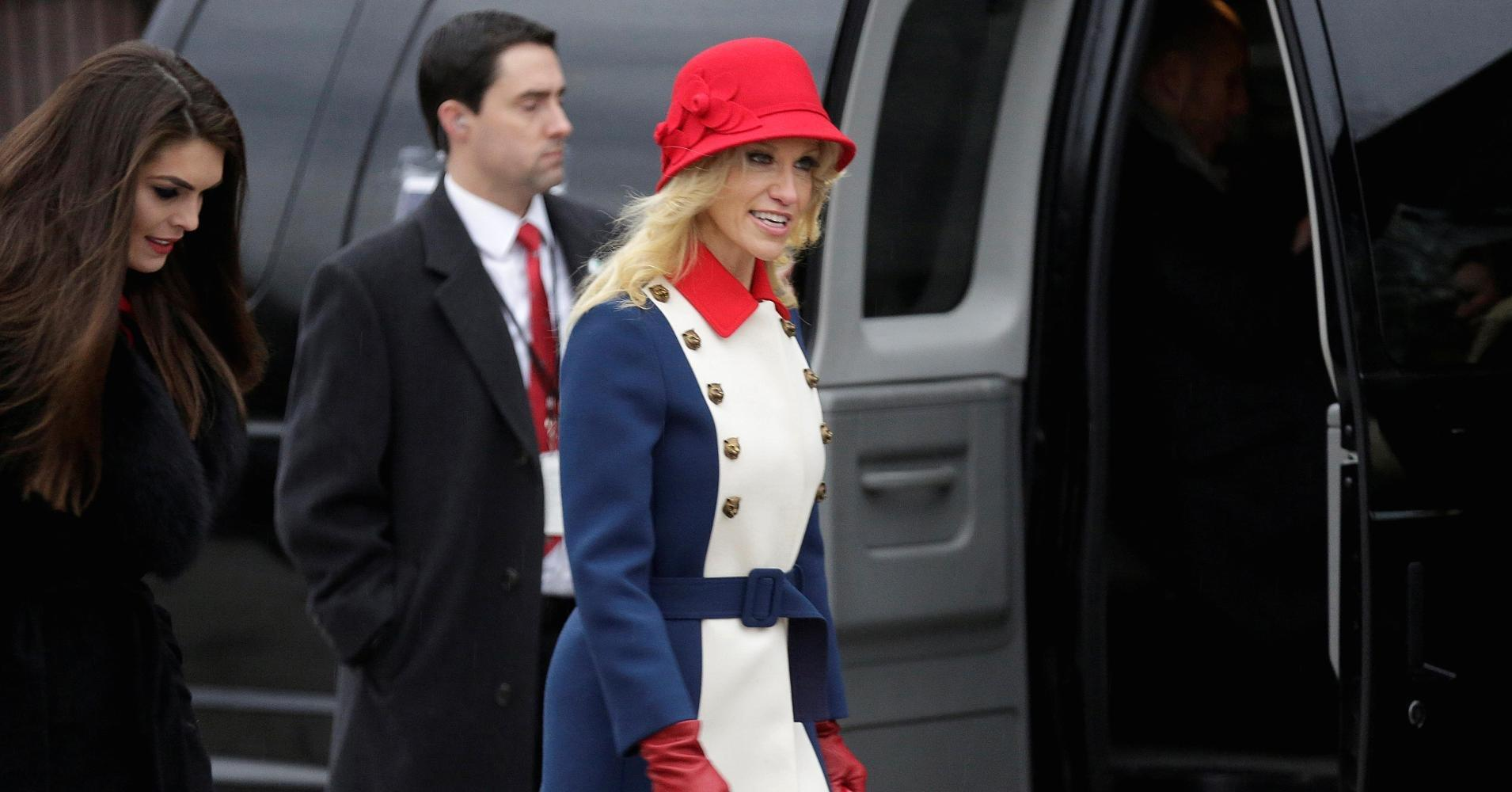Conway decked out in patriotic dress for inauguration