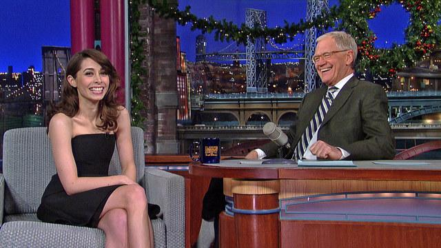 "David Letterman - ""How I Met Your Mother"" Star, Cristin Milioti"