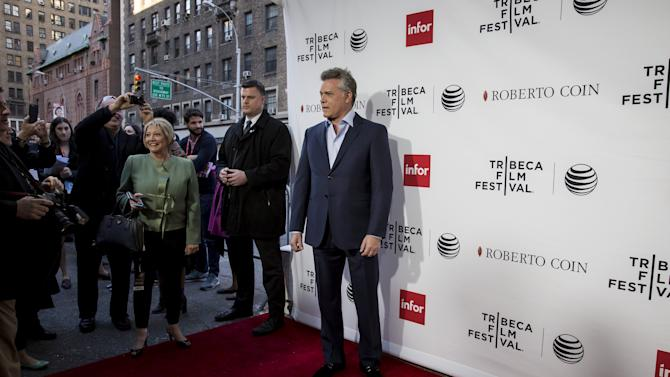 "Actor Ray Liotta arrives at a screening of the film ""Goodfellas"" during the Tribeca Film Festival in New York City"