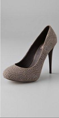 Dolce Vita Trinity Studded Suede Pumps on Hidden Platform - $215.00
