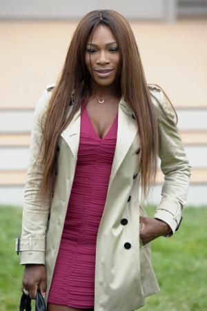 U.S tennis player, Serena Williams arrives for Burberry Prorsum show, during London Men's spring summer fashion collections 2014, in London, Tuesday, June 18, 2013. (Photo by Jonathan Short/Invision/AP)