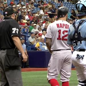Napoli ejected after strikeout