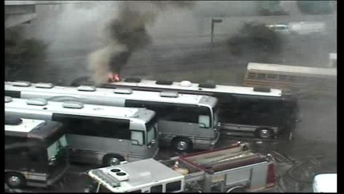 Styx, Foreigner tour buses damaged in fire