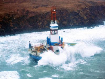 Salvors Ready Shell Drill Ship for Tow Attempt