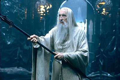 Christopher Lee as the evil Saruman in New Line's The Lord of The Rings: The Fellowship of The Ring