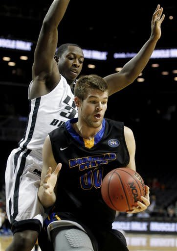 Morehead State wins 1st college game at Barclays